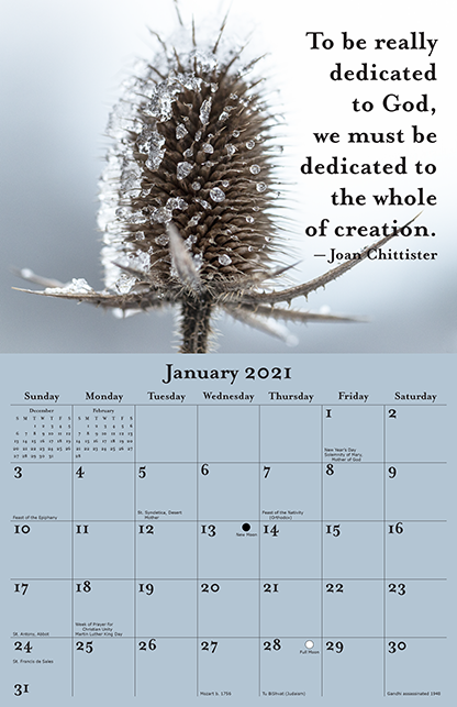 2021 Joan Chittister Calendar January
