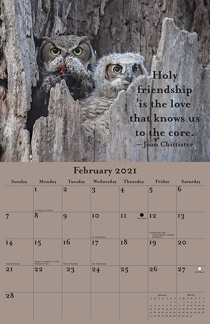 2021 Joan Chittister Calendar February