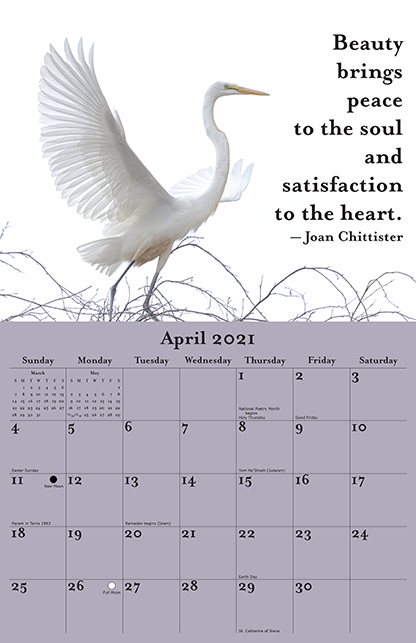 2021 Joan Chittister Calendar April