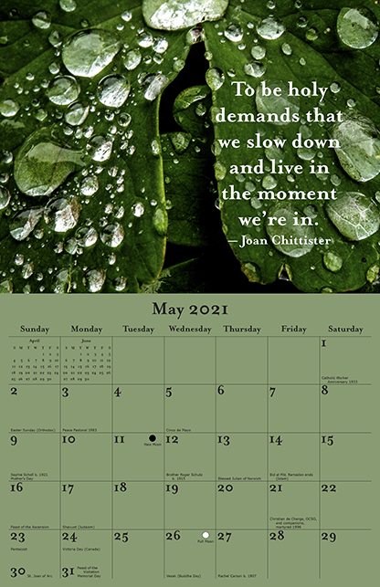 2021 Joan Chittister Calendar May