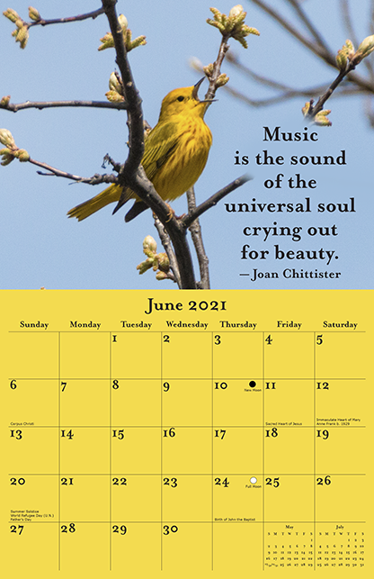 2021 Joan Chittister Calendar June