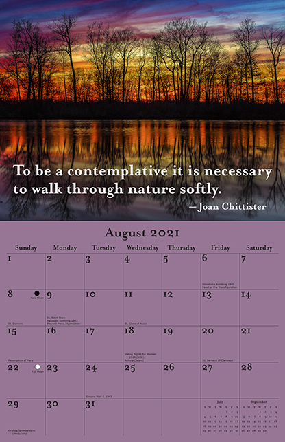 2021 Joan Chittister Calendar August