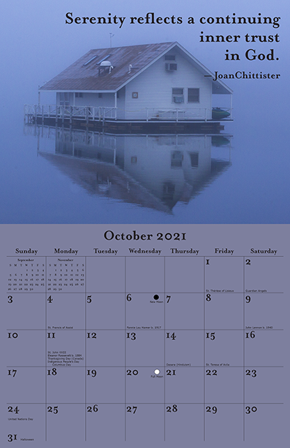 2021 Joan Chittister Calendar October