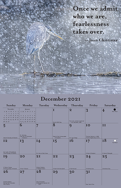 2021 Joan Chittister Calendar December