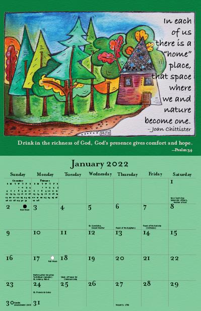 2022 Joan Chittister Calendar January
