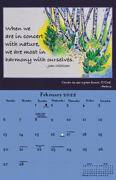 2022 Joan Chittister Calendar February