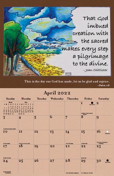 2022 Joan Chittister Calendar April