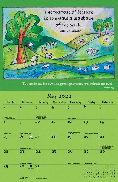 2022 Joan Chittister Calendar May
