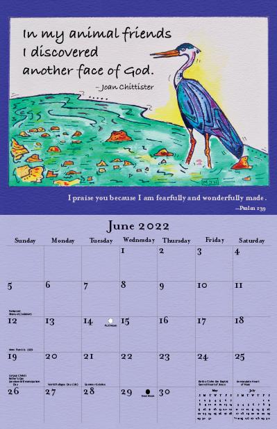 2022 Joan Chittister Calendar June