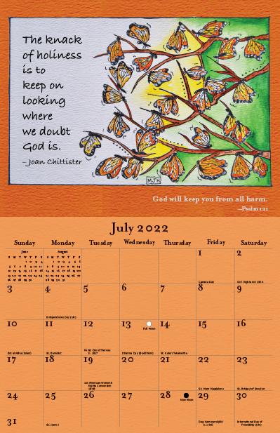 2022 Joan Chittister Calendar July