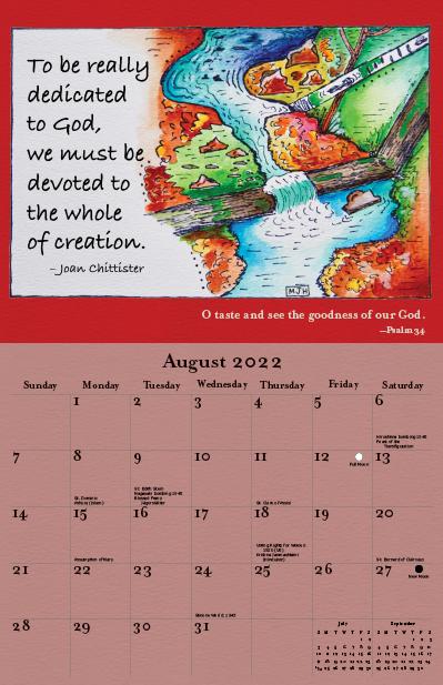 2022 Joan Chittister Calendar August