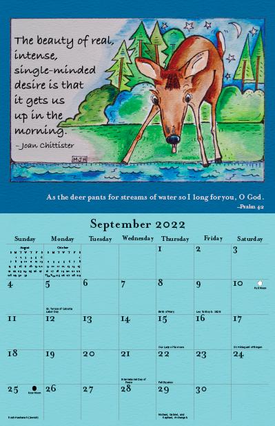 2022 Joan Chittister Calendar September