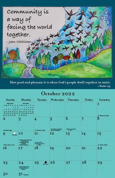 2022 Joan Chittister Calendar October