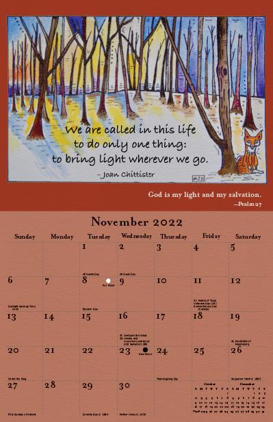 2022 Joan Chittister Calendar November