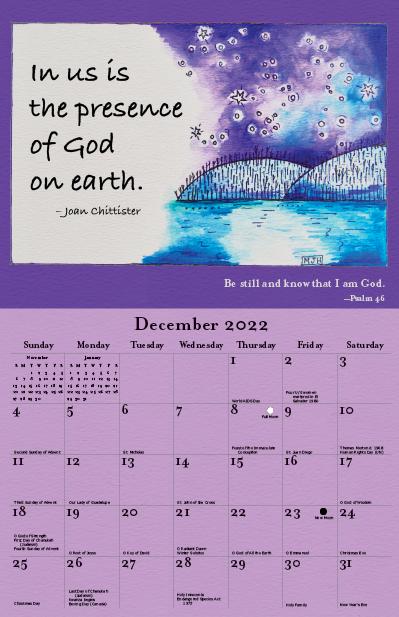 2022 Joan Chittister Calendar December