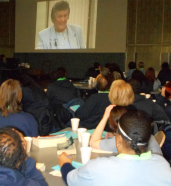 As part of the Fund for Prisoners outreach, 90 women at the Ohio Reformatory for Women participated in an all-day retreat led by Sister Carolyn Gorny-Kopkowski that included videos by Joan Chittister on the challenges and gifts of struggle.