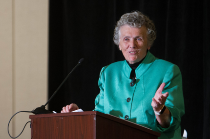 Sister Joan speaks at the Communicators for Women Religious Conference