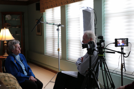 PBS interview for Dorothy Day documentary filming