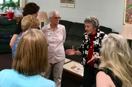 Joan with participants at the Joan Chittister Institute for Contemporary Spirituality