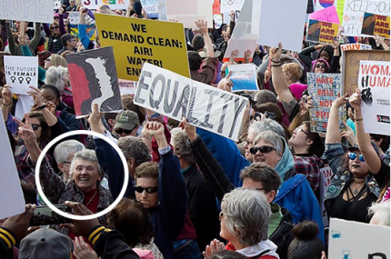 Sister Joan participates in Womens March