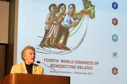Sister Joan presents at Oblate Congress in Rome